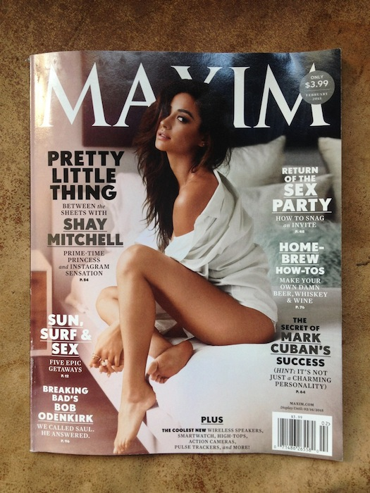 The February 2015 issue of Maxim.
