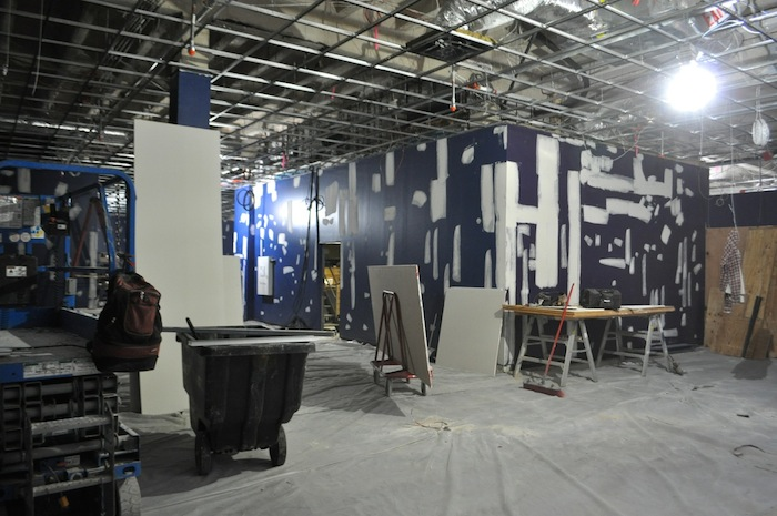Inside the main building at the Witte Museum, the Kathleen and Curtis Gunn Gallery takes shape. Photo by Iris Dimmick.