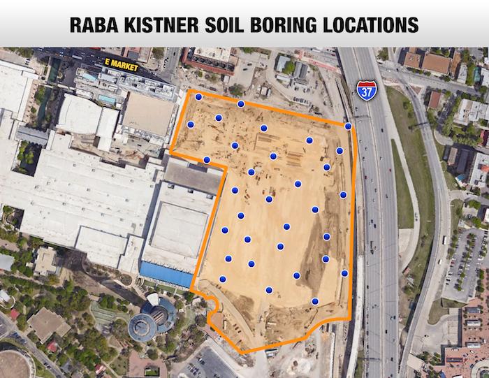 Raba Kistner's soil boring map.