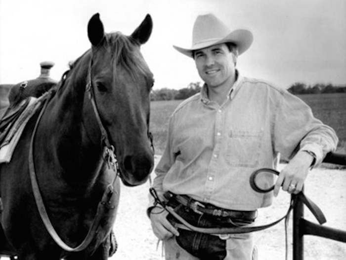 Rick Perry became Texas's agriculture commissioner in 1990. Photo from Perry's campaign.