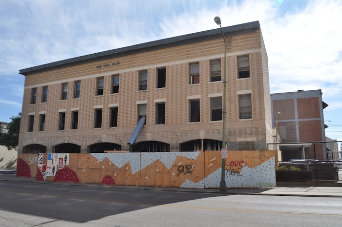 The Henry Terrell Building is being renovated into a 10 unit complex. Photo by Iris Dimmick.