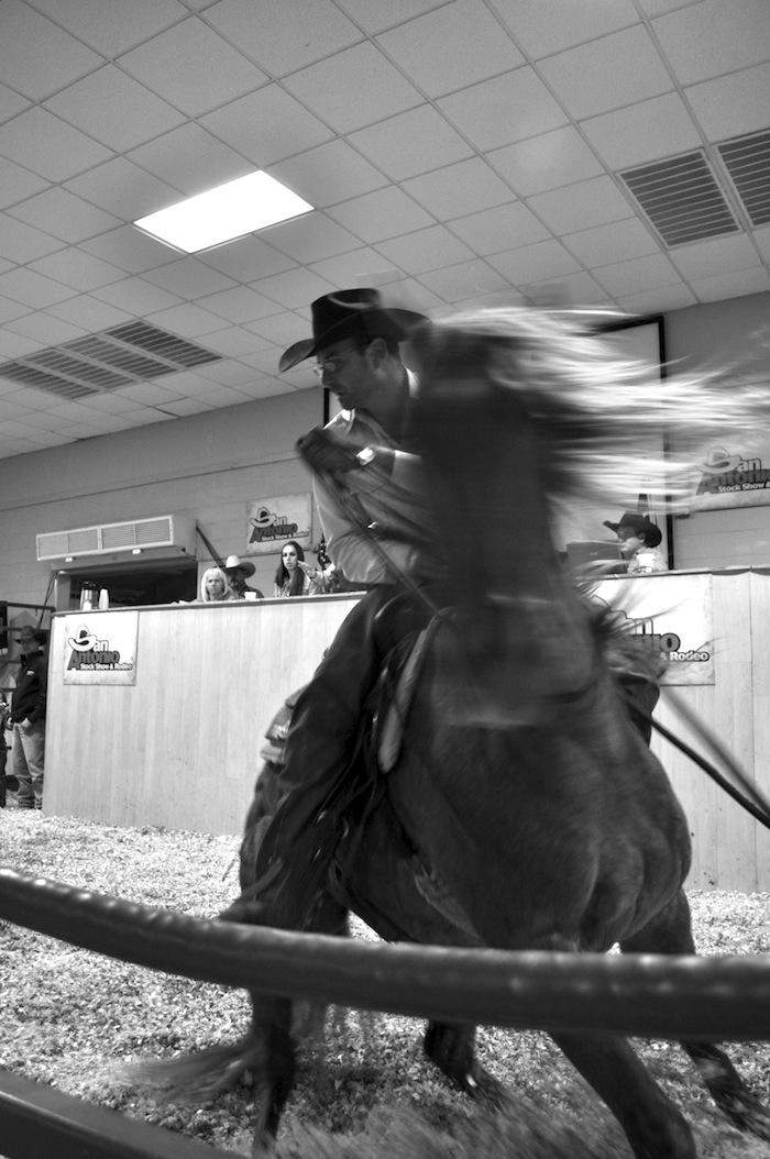 Attendees bid on horses during the 2013 San Antonio Stock Show and Rodeo. Photo by Iris Dimmick.