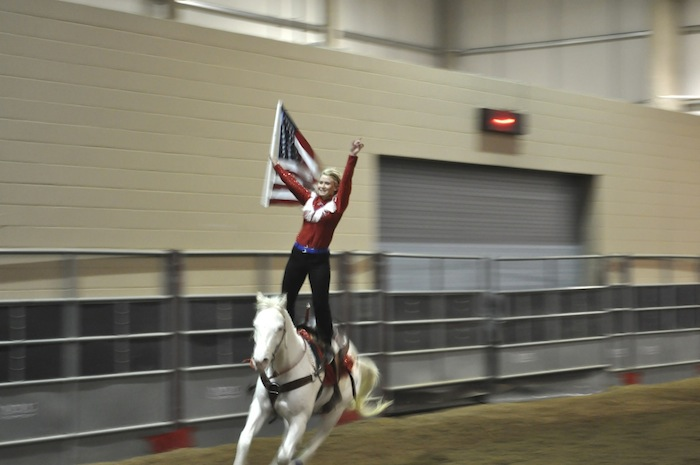 A young woman performs during the 2013 San Antonio Stock Show and Rodeo. Photo by Iris Dimmick.