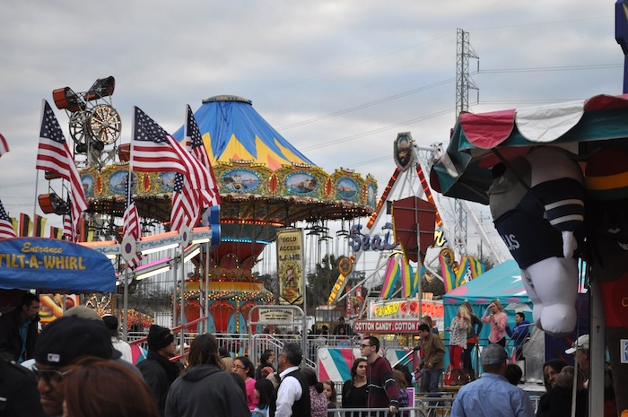 The crowded carnival during the 2013 San Antonio Stock Show and Rodeo. Photo by Iris Dimmick.