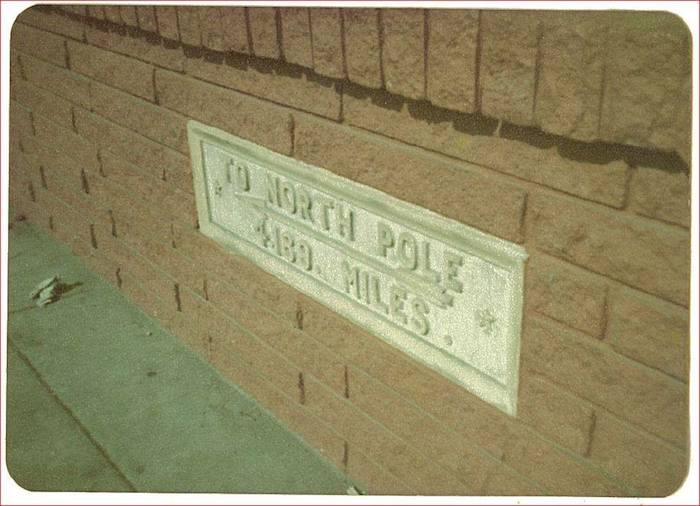 Rumor has it this sign was placed in the brick during the repair after a car crashed into the building in the 1950s. A pharmacy was originally at 1824 N. Main Avenue. Hogwild Records does a thriving business there now. Photo by Don Mathis