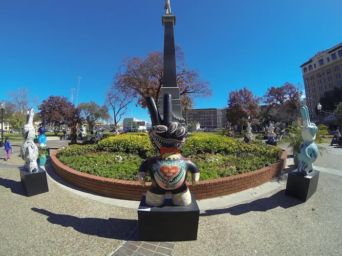 """Mano Factura: Arte Regio"" in Travis Park. Photo by Jerimey Sharp."