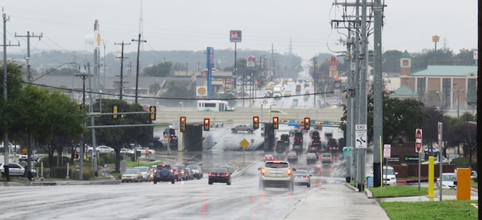 Looking towards IH 10, this is truly the traffic center of the city. Photo by Warren Lieberman.