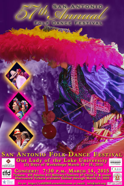 2015 Folk Dance Festival Concert Poster. Courtesy Photo.