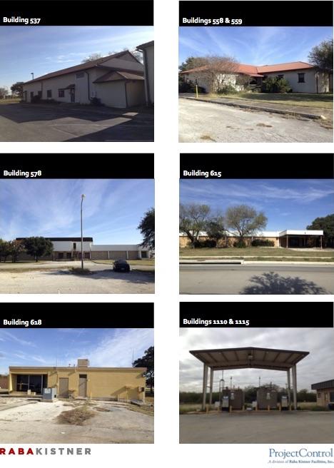 Mayor buildings planned for demolition in Brooks City Base.
