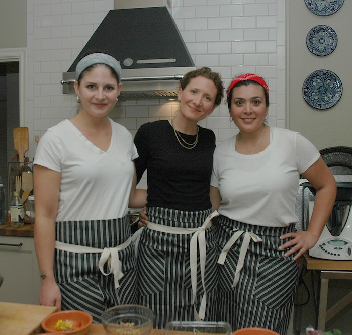 (From left) assistant Caitlin Buchannon, Pharm Table owner Elizabeth Johnson, and assistant Bianca Valero. Photo by Karla Held.