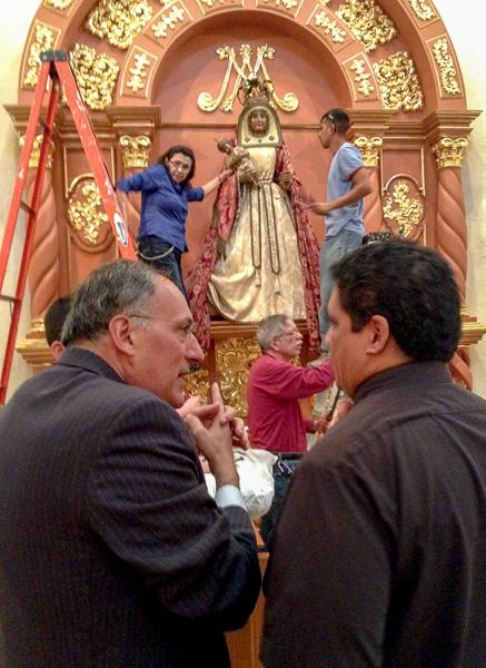 Minister Padron and San Fernando Cathedral Rector Fr. Tony Vilano. Courtesy photo.
