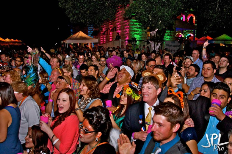 The crowd at WEBB Party 2014 cheers on stage performers. Photo by JPL Productions.