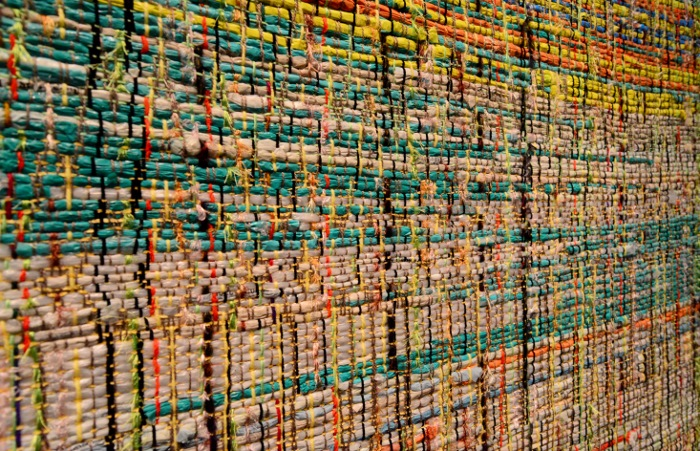 Detail of a textile at Lullwood Group. Photo by Page Graham.