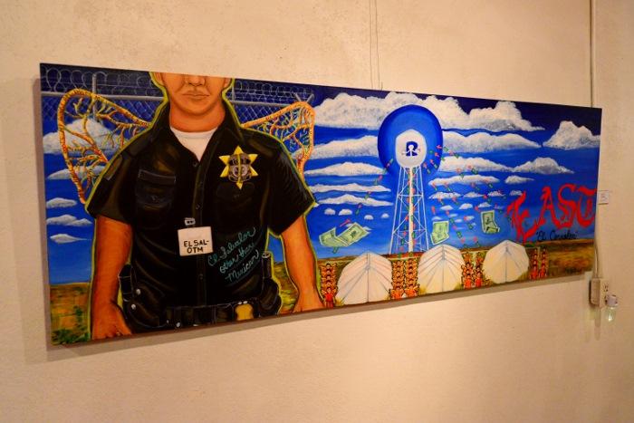 Artwork by Celeste de Luna at the Gallista Gallery. Photo by Page Graham.