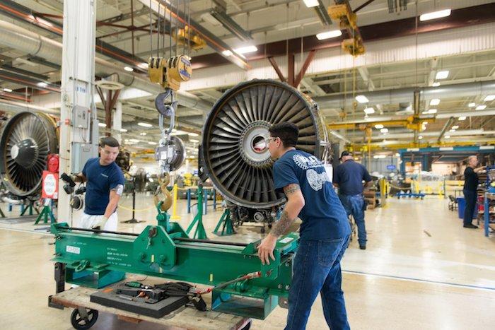 Engine maintenance work at Lockheed Martin. Photo courtesy of San Antonio.