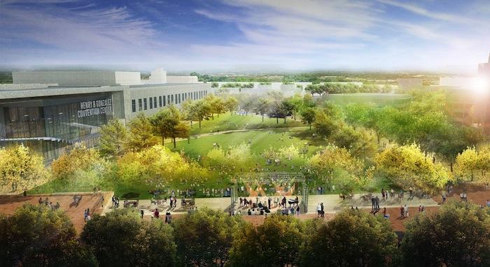 Rendering of Hemisfair's Civic Park courtesy of design firm Gustafson Guthrie Nichol.