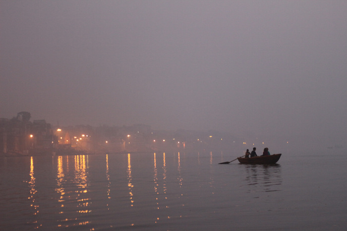 Taken during a sunrise boat tour of the Ganga in Varanasi, India. Photo by Joan Vinson.