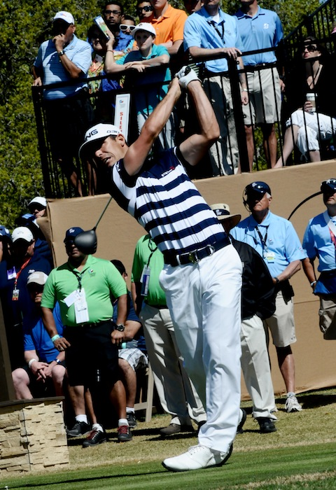 Jordan Spieth tees off at the 2015 Valero Texas Open on his way to a second place finish at the the JW Marriott TPC San Antonio. Photo by Kristian Jaime.