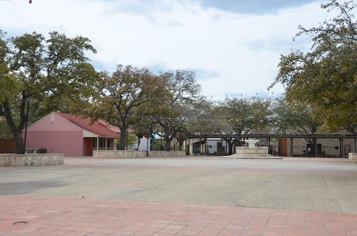 A desolate Maverick Plaza. Photo by Gretchen Greer.