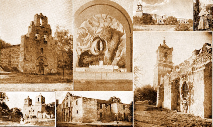 A collage of the San Antonio Missions. Photo by Lily Casura.