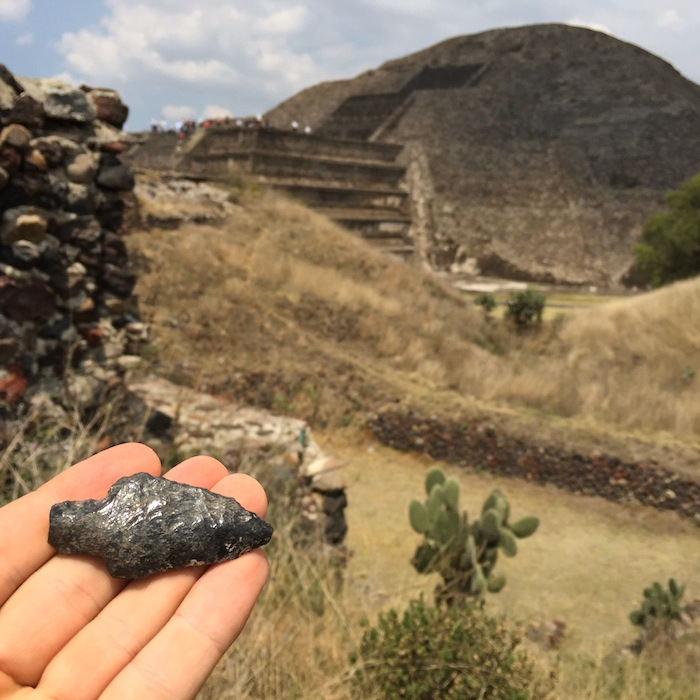 The arrowhead I found toward the beginning of my journey. Photo by Everett Redus.