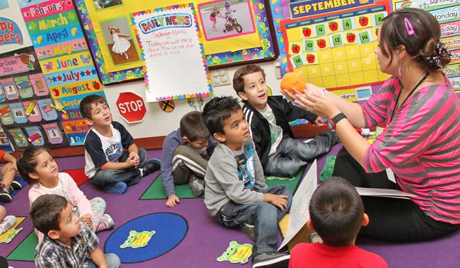 Pre-K 4 SA classroom. Photo courtesy of the City of San Antonio.