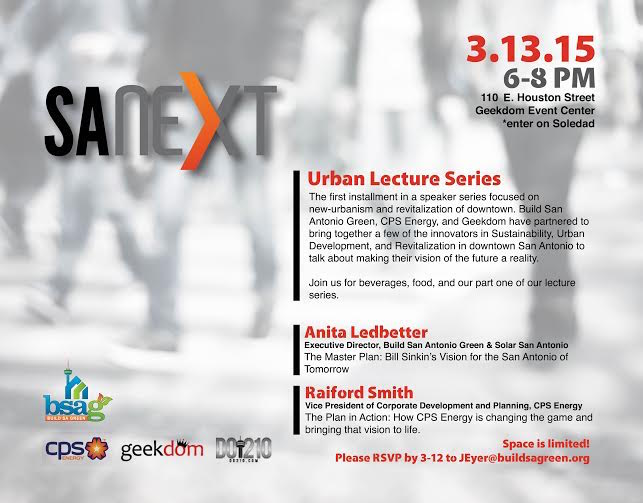 Poster of the SA Next event at the Rand Building.