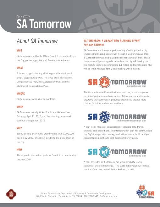 Here's more info on SA Tomorrow.