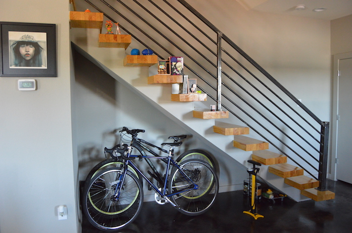 A nook for my bikes, Bertha and Gale. Photo by Angel Lopez.