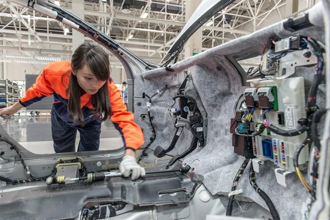 Volvo s60 manufacturing line. Photo courtesy of Volvo.