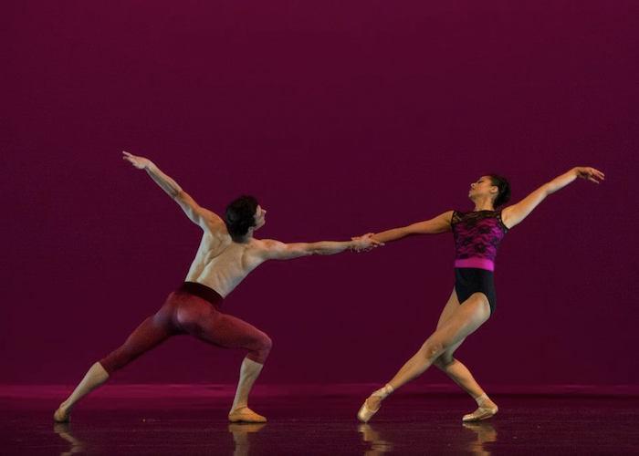 """Patrick Van Buren and Crystal Serrano in """"Arvo."""" Photo by Alexander Devora."""