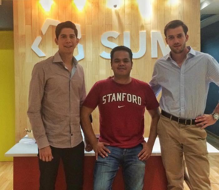 (From left)  Alberto Gomez Isassi, Marco Vera, and Eduardo Bravo at Startup México. Photo courtesy of Facebook.