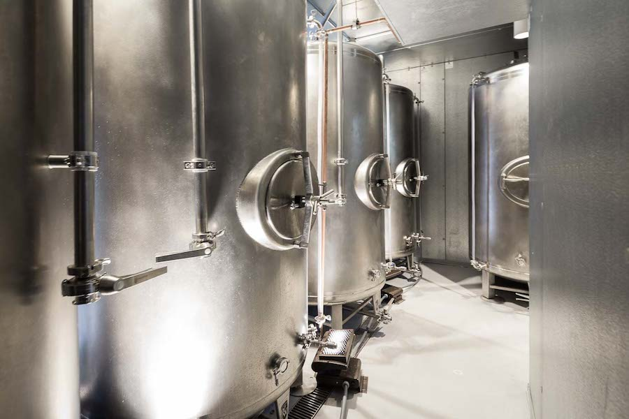Southerleigh Fine Food & Brewing's conditioning tanks. Photo by Scott Martin.
