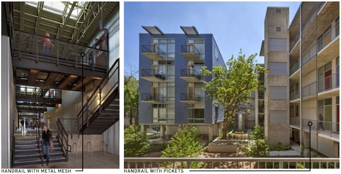 A conceptual design of an interior courtyard at 815 Avenue B. Courtesy of Lake/Flato Architects.