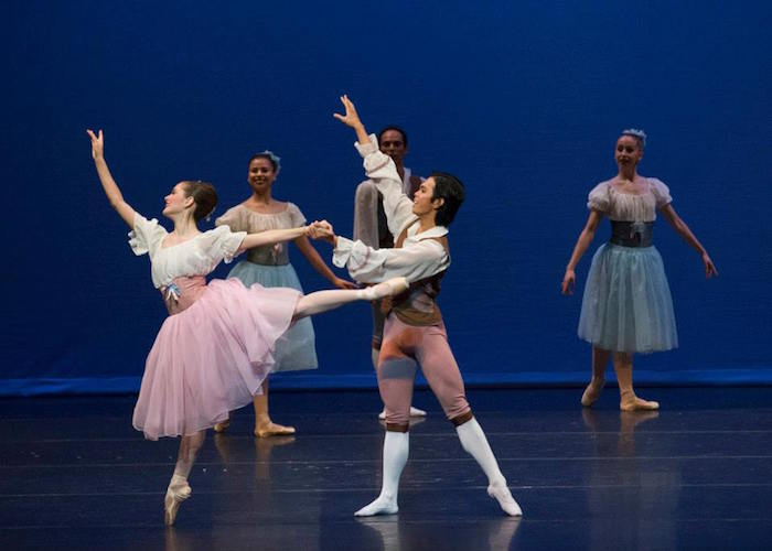 """Kate Maxted and Jayson Pescasio in """"Donizetti Variations."""" Photo by Alexander Devora."""