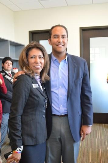 U.S. Rep. Will Hurd (R-San Antonio) of District 23 poses for a photo with Texas A&M-San Antonio Presdient Cynthia Teniente-Matson. Courtesy photo.