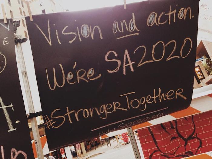 During Artpace's Chalk It Up, an SA2020 Haiku was born. Photo courtesy of SA2020.