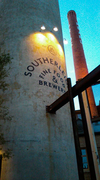 Southereigh Fine Food & Brewery is located inside the original Pearl Brewery (former San Antonio Brewing Association) building. The adjoining old grain silo will accommodate a small private dining room. Photo by Edmond Ortiz.