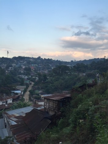 View of my neighborhood in Coban, Guatemala. Photo by Everett Redus.