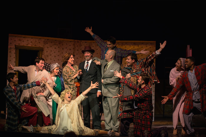 """The grande finale of """"Mr. Goldstone, I Love You"""" from Gypsy. Photo by Siggi Ragnar."""