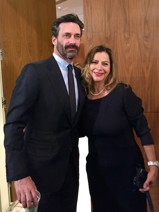 Actor Jon Hamm poses for a photo with Gisela Girard. Photo courtesy of Creative Civilization.