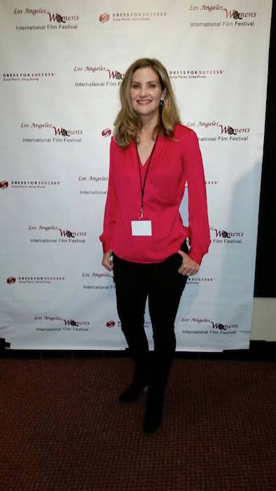 Chandler at the Los Angeles Women's International Film Festival. Courtesy photo.
