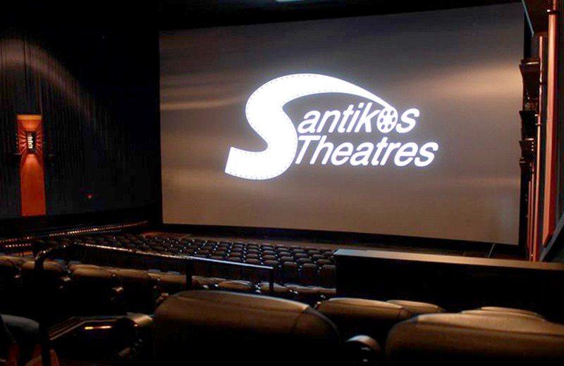 The Santikos Theatres logo is displayed in one of their many screens in San Antonio. Courtesy Photo.