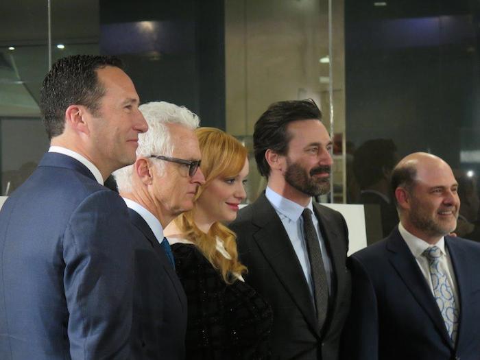 "(From left) AMC President Charlie Collier, John Slattery, Christina Hendricks, Jon Hamm, and ""Mad Men"" creator Matthew Weiner. Photo courtesy of Creative Civilization."