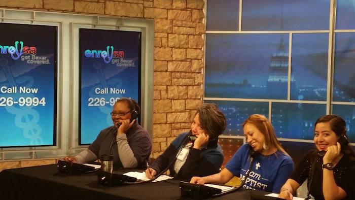 Members of the EnrollSA coalition answer WOAI viewer questions. Photo courtesy of SA2020.
