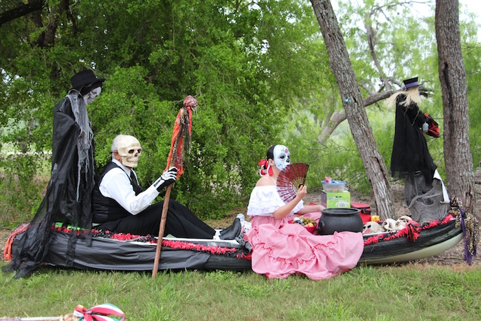 """""""Day of the Dead"""" float at the inaugural Mission Reach Float Fest on Saturday. Courtesy photo."""