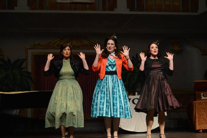 """The ladies of WOAI perform their rendition of """"Boogie Woogie Bugle Boy."""" Photo by Sandra Treviño."""