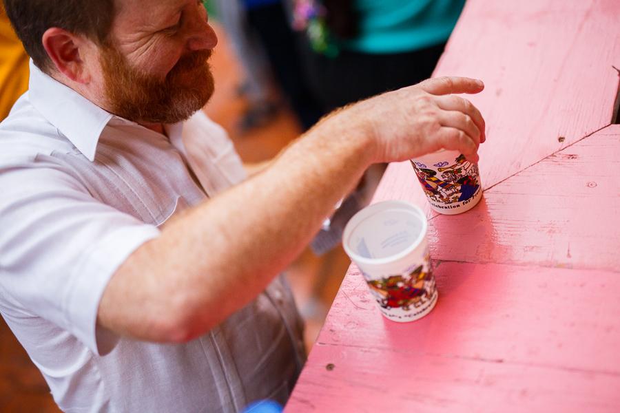 A man orders a beer during NIOSA 2015 at La Villita. Photo by Scott Ball.