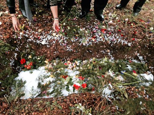 A grave is prepared in Eloise Woods. Photo courtesy of Ellen Macdonald.