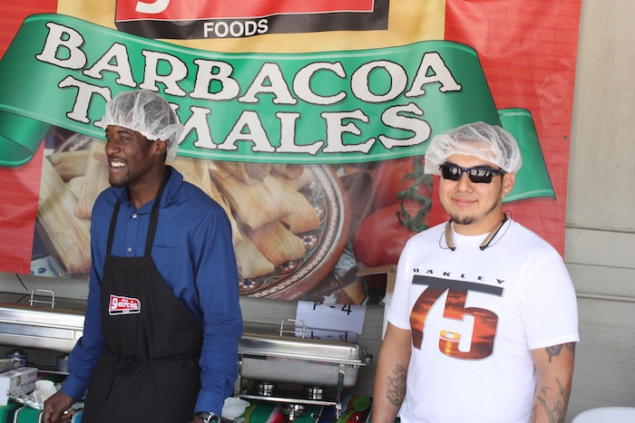 Alamo Molina staff members during the 2015 Barbacoa & Big Red Festival. Photo by Kay Richter.